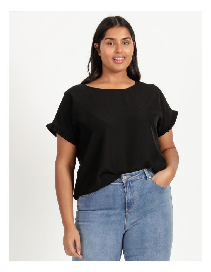 Frill Sleeve Relaxed Top image 1
