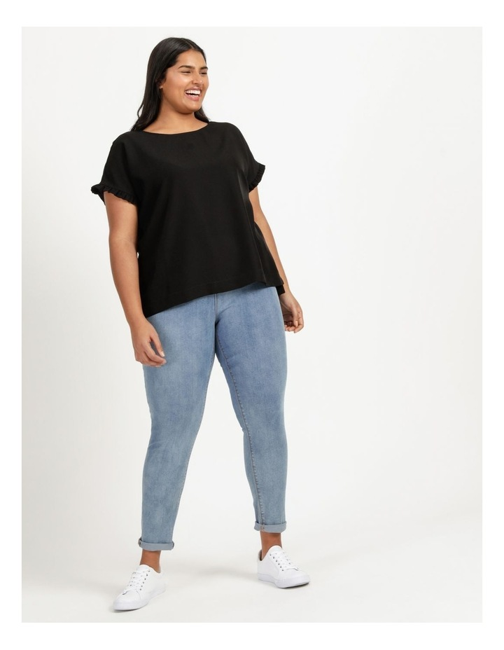 Frill Sleeve Relaxed Top image 3