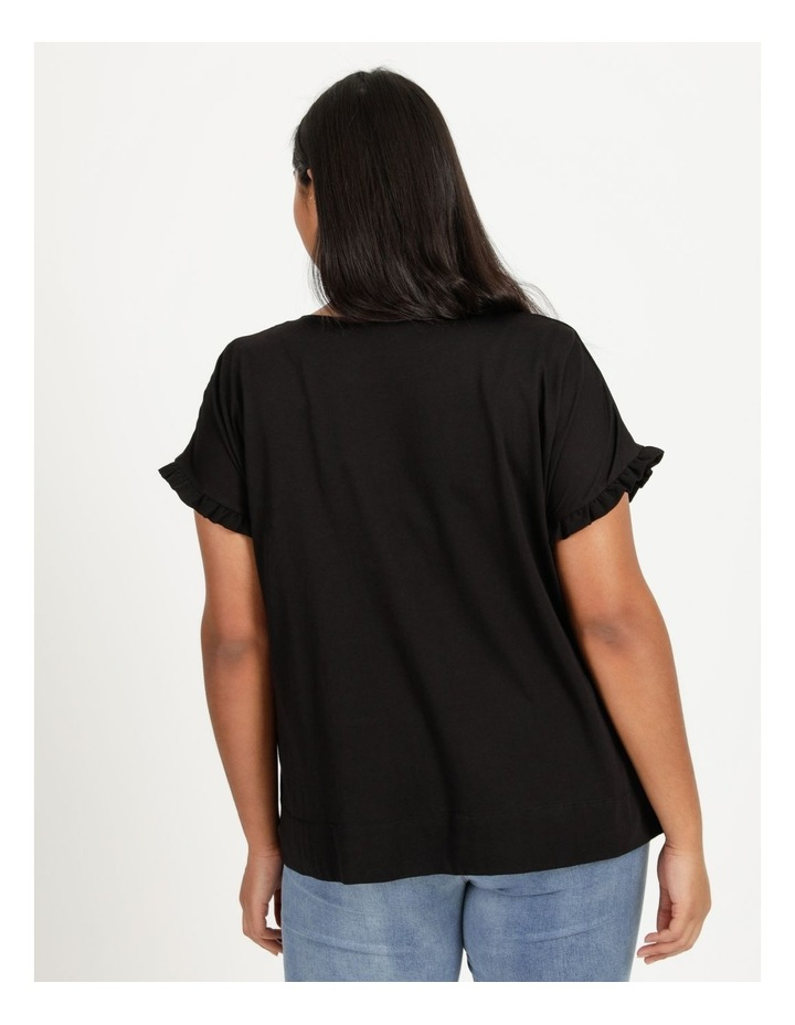 Frill Sleeve Relaxed Top image 5