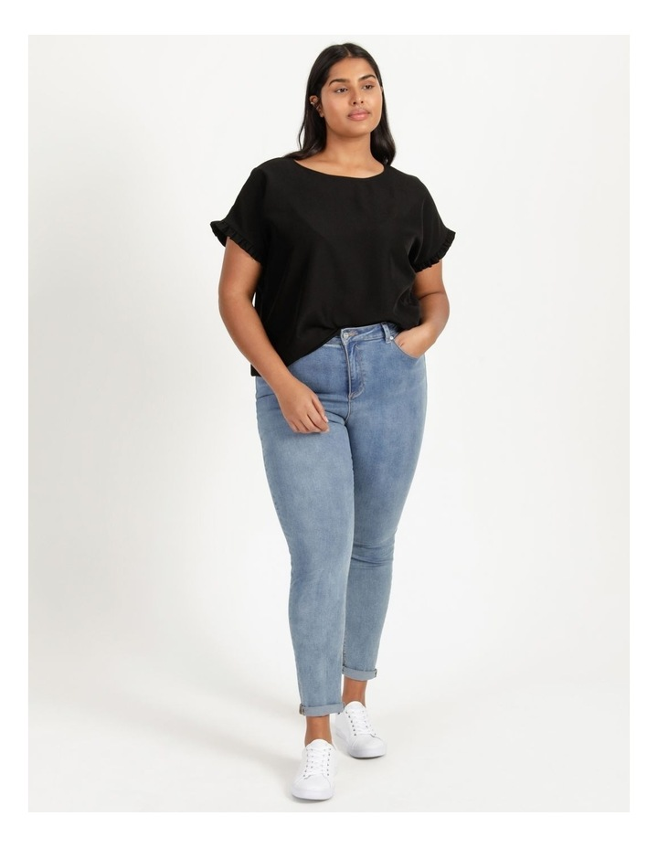 Frill Sleeve Relaxed Top image 6