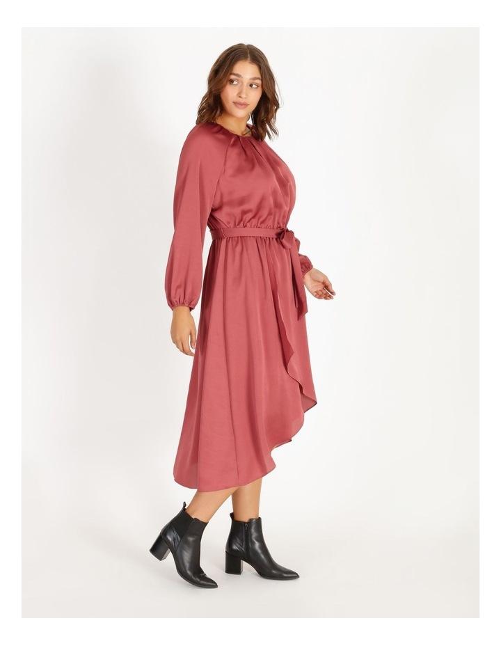 Curve Satin Wrap Midi Dress image 2