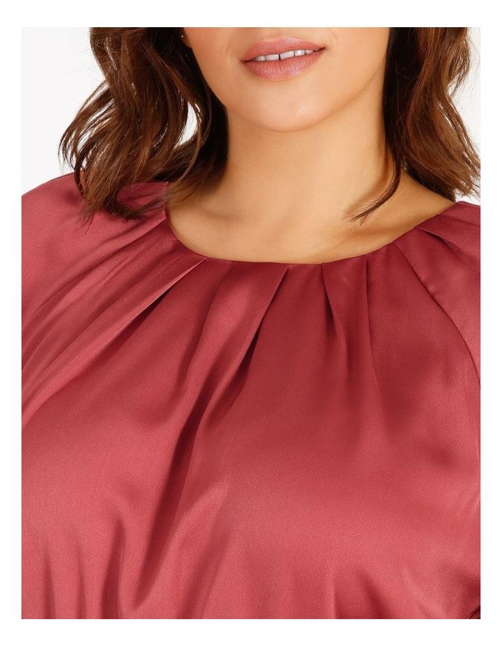 Curve Satin Wrap Midi Dress image 4