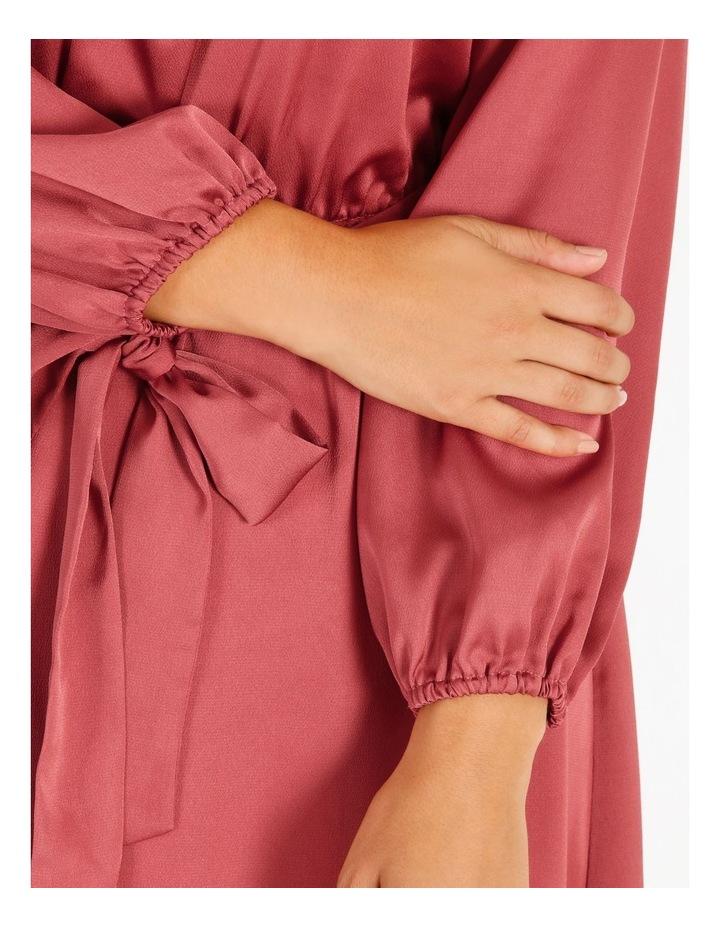 Curve Satin Wrap Midi Dress image 5