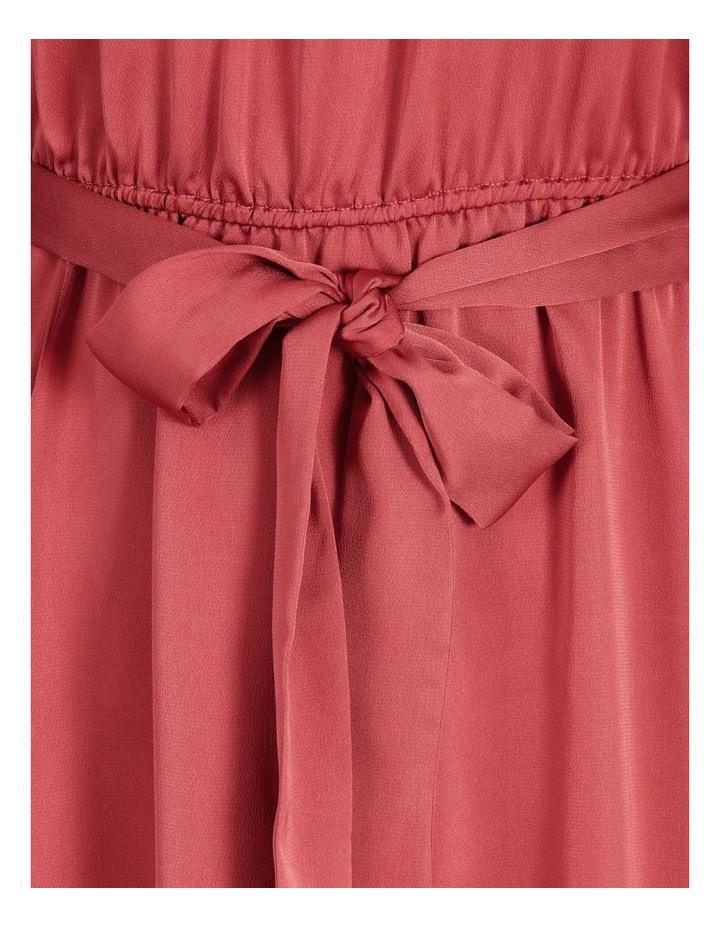 Curve Satin Wrap Midi Dress image 6