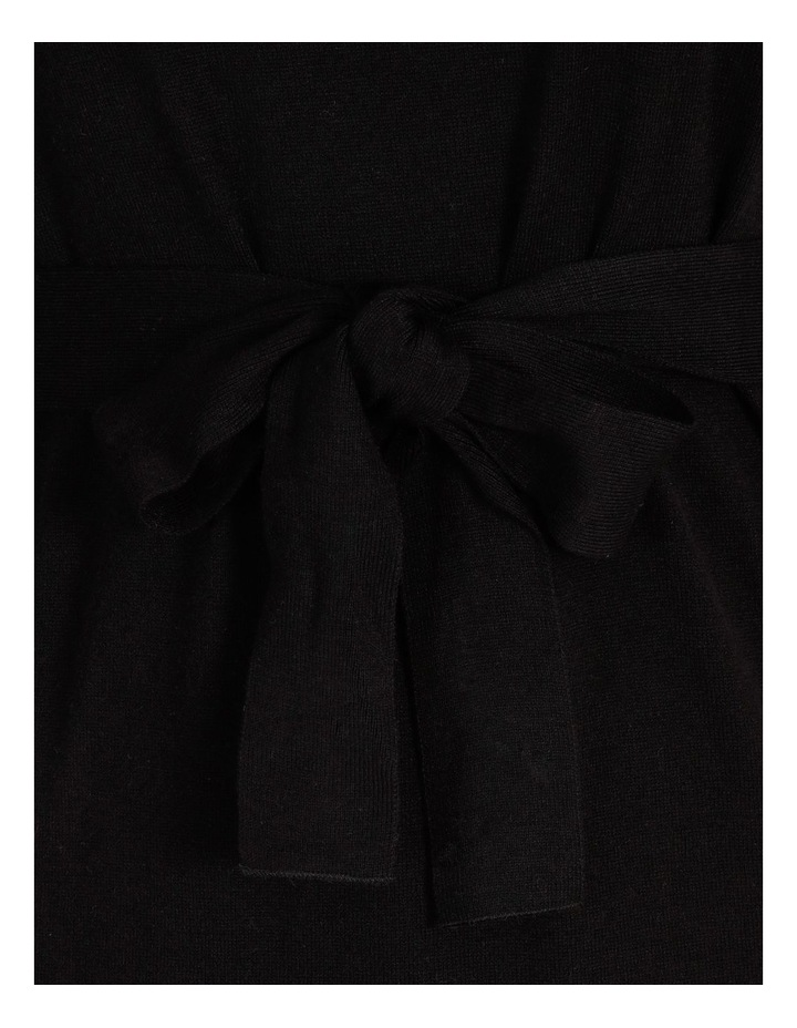Blouson-Sleeve Wool Blend Knitted Dress image 5