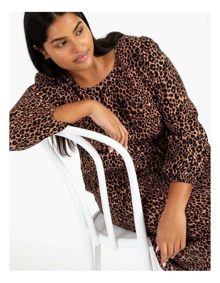 Blouson Sleeve Midi Dress image 1