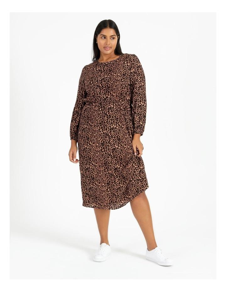 Blouson Sleeve Midi Dress image 2