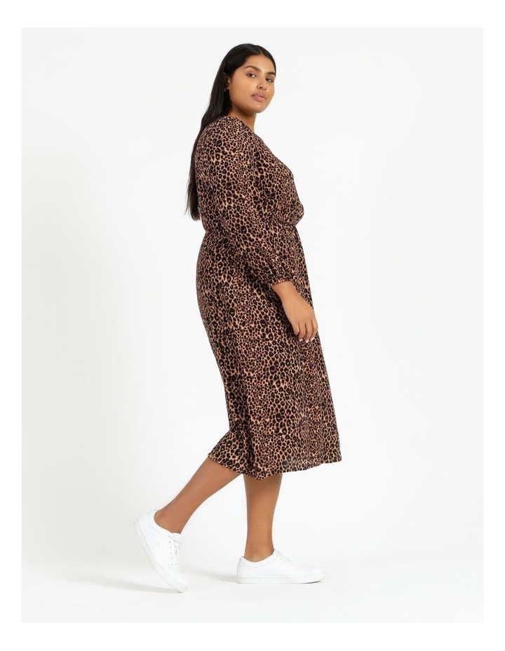 Blouson Sleeve Midi Dress image 3