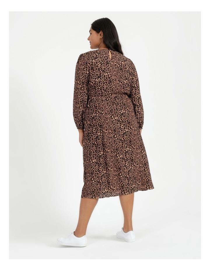 Blouson Sleeve Midi Dress image 4