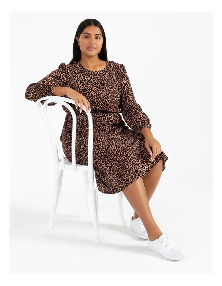 Blouson Sleeve Midi Dress image 5