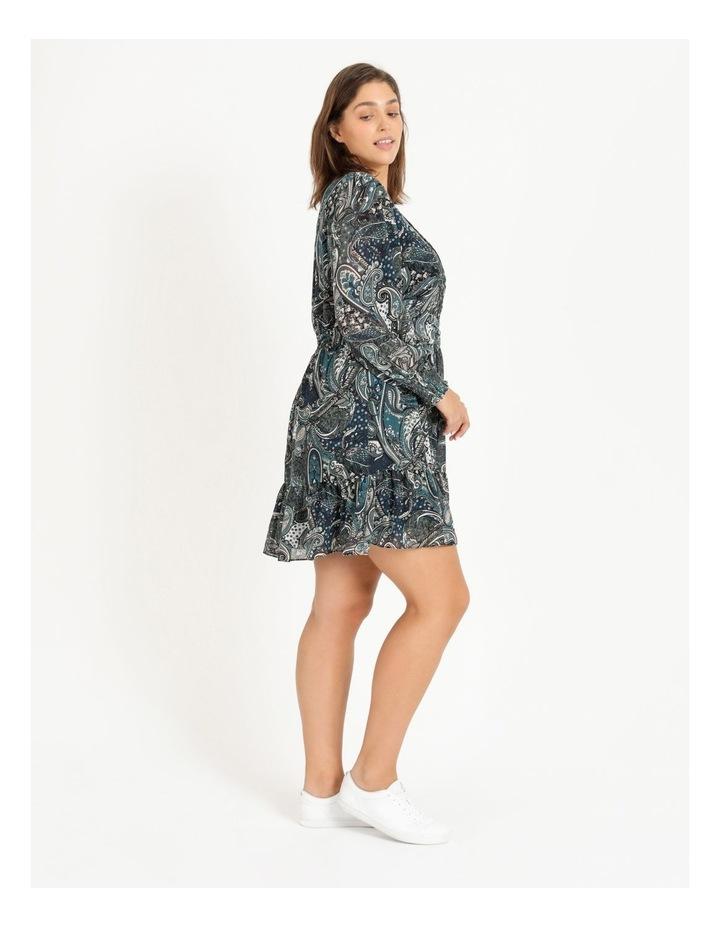 Curve Shirred Long Sleeve Mini Dress image 2