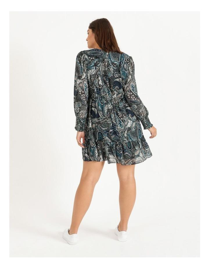 Curve Shirred Long Sleeve Mini Dress image 3