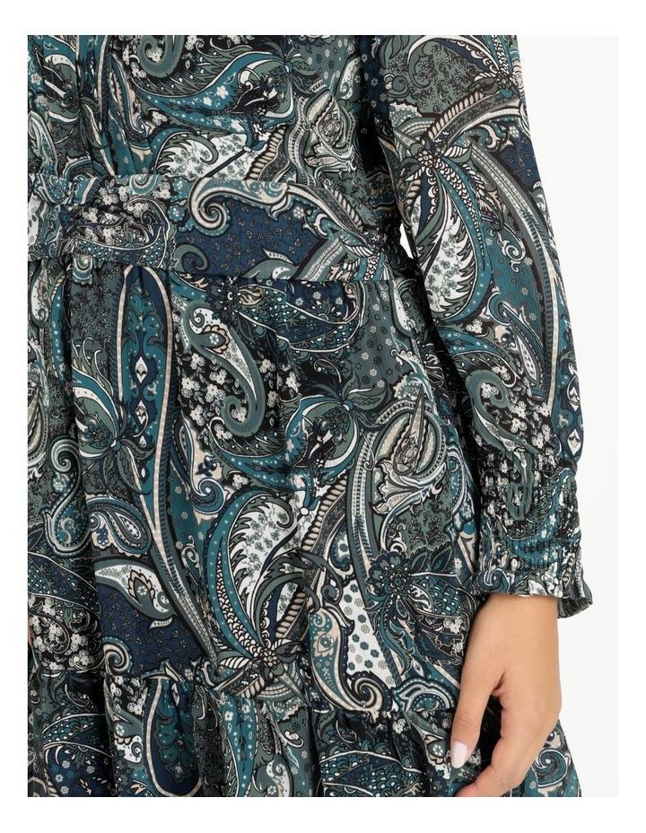Curve Shirred Long Sleeve Mini Dress image 5