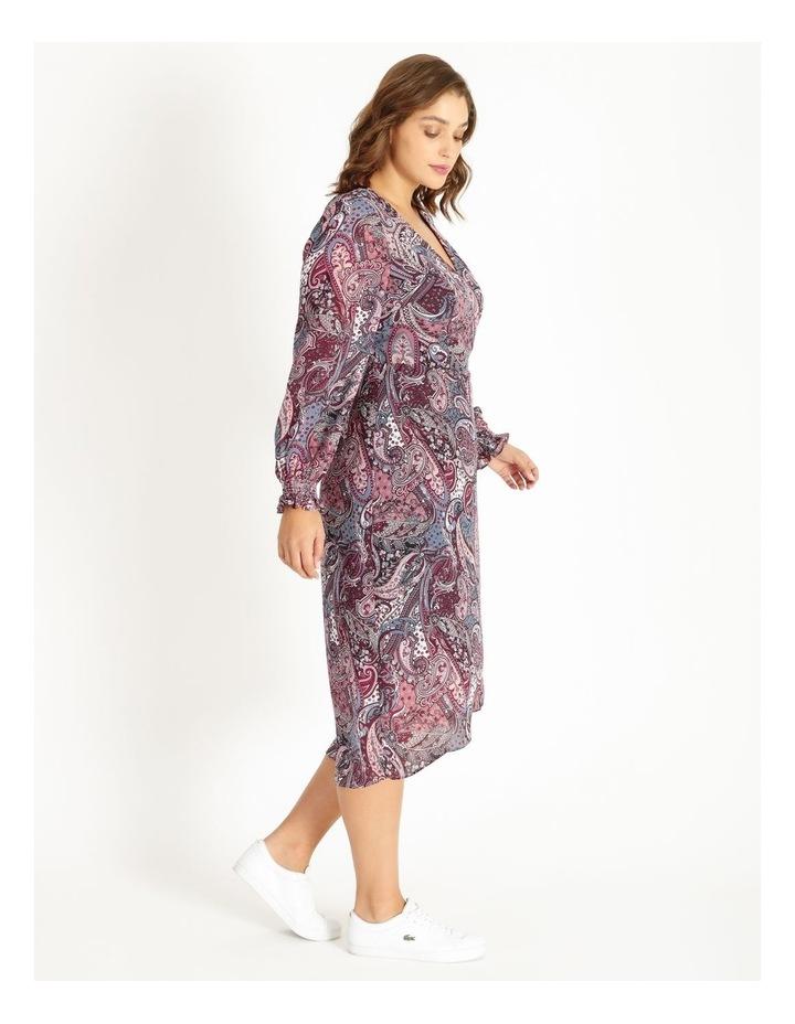 Curve Long Sleeve Wrap Dress image 2