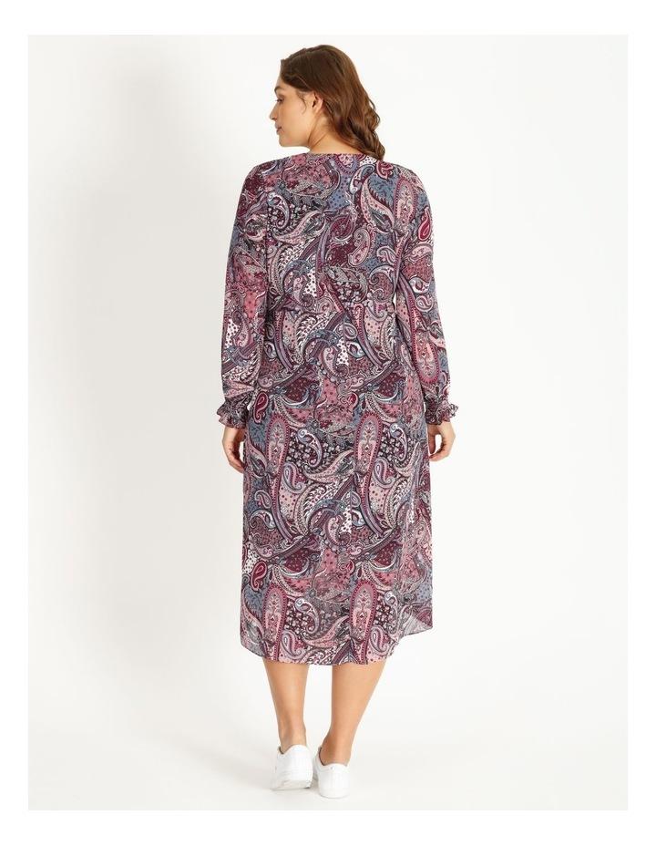 Curve Long Sleeve Wrap Dress image 3