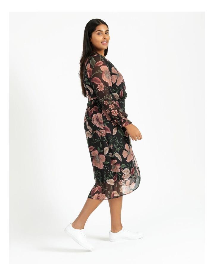 Long Sleeve Wrap Midi Dress image 3