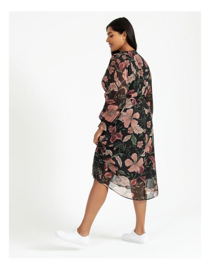 Long Sleeve Wrap Midi Dress image 4