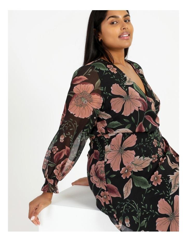 Long Sleeve Wrap Midi Dress image 5