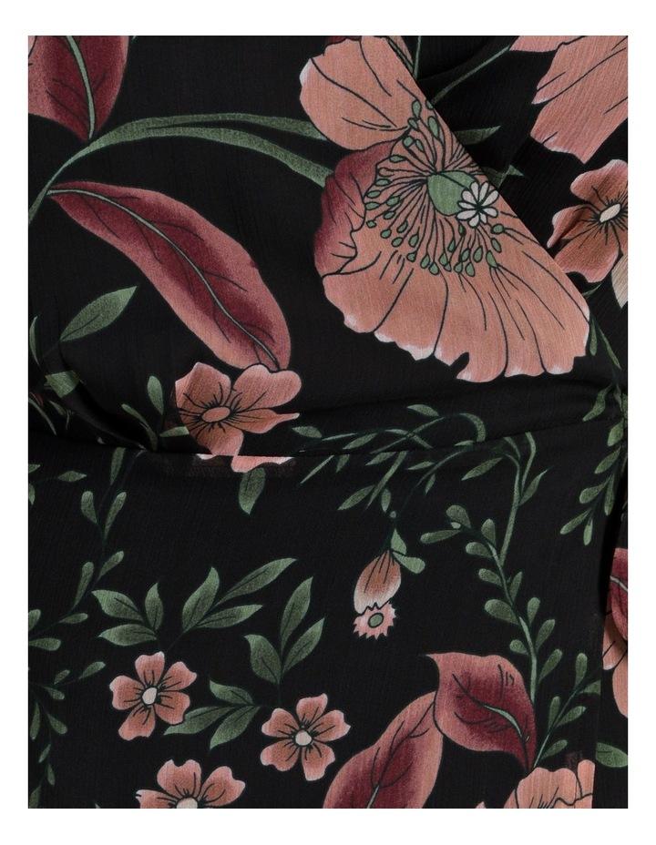 Long Sleeve Wrap Midi Dress image 6