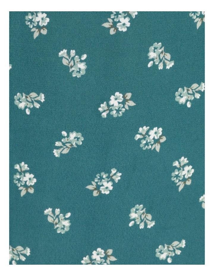 Puff Tie Sleeve Wrap Midi Dress image 7