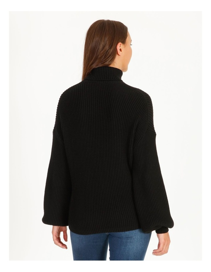 High Neck Wool Blend Sweater image 2
