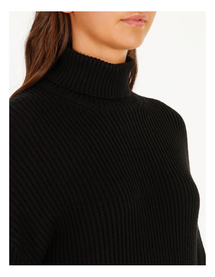 High Neck Wool Blend Sweater image 3