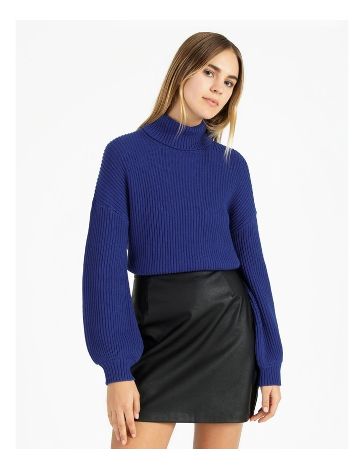 High Neck Wool Blend Sweater image 1