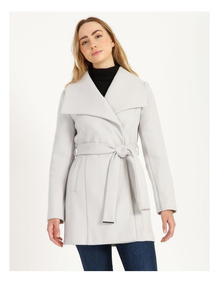 Grey Wrap Coat image 1