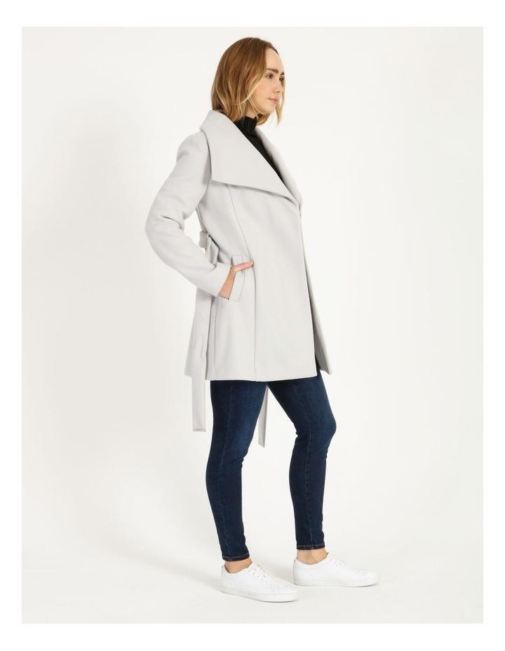 Grey Wrap Coat image 2