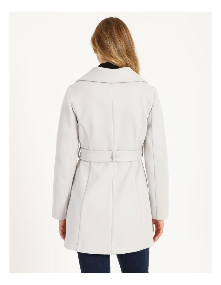 Grey Wrap Coat image 3