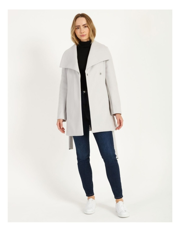 Grey Wrap Coat image 4