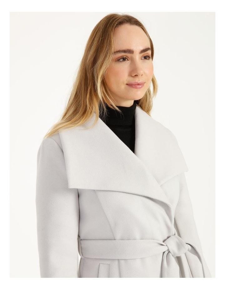 Grey Wrap Coat image 5