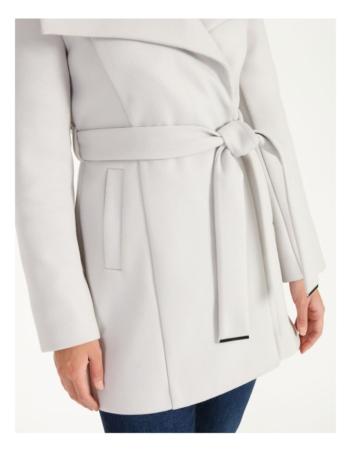 Grey Wrap Coat image 6