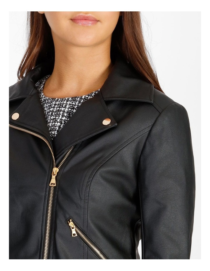 Faux Leather Biker Jacket image 4