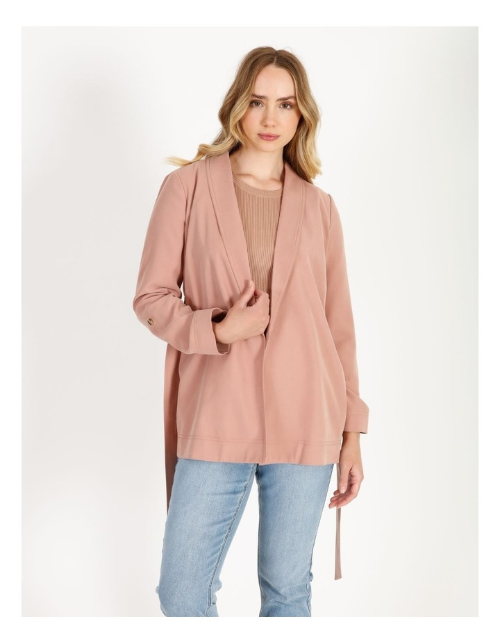 Soft Wrap Jacket With Tie image 1
