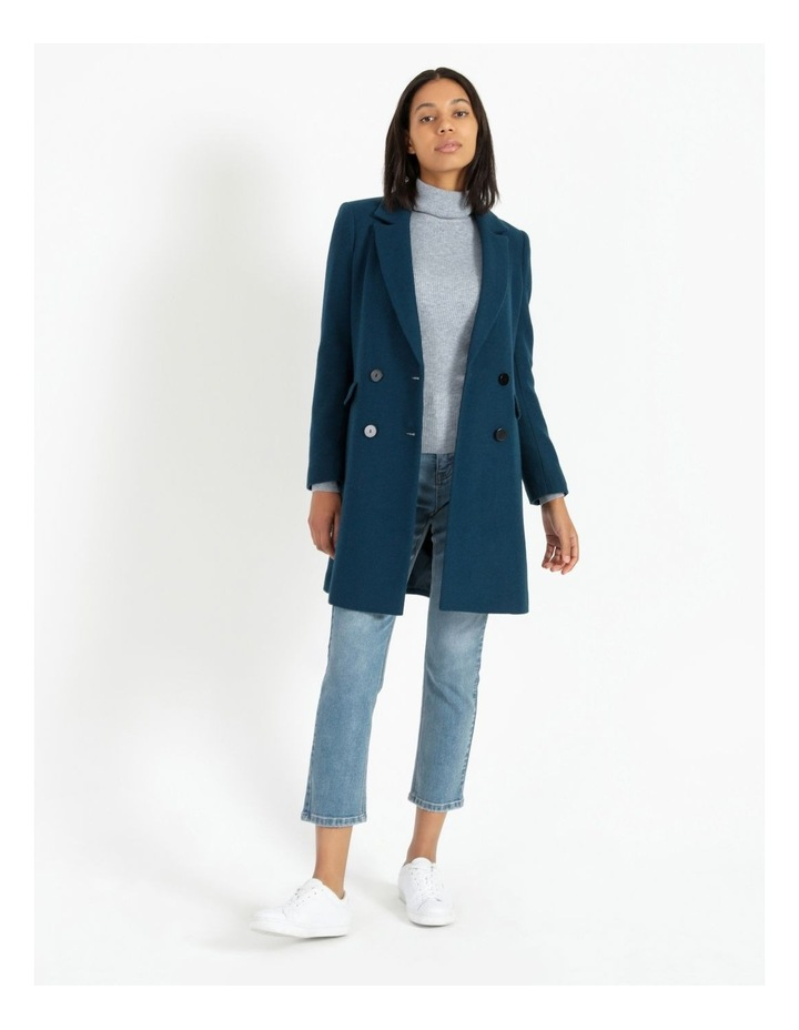Double-Breasted Wool Blend Coat image 1