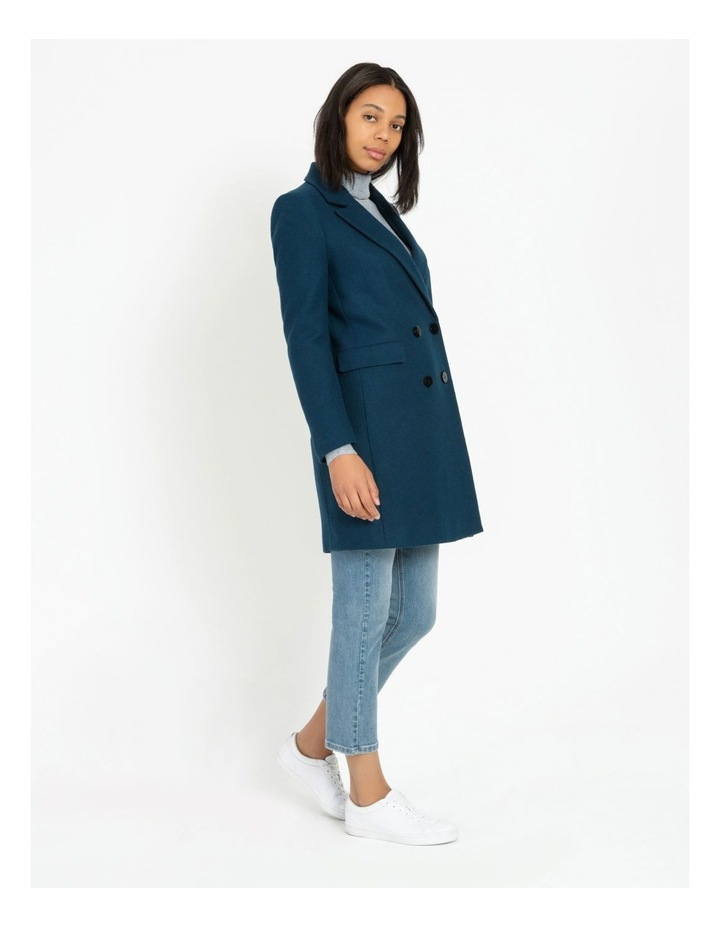 Double-Breasted Wool Blend Coat image 5