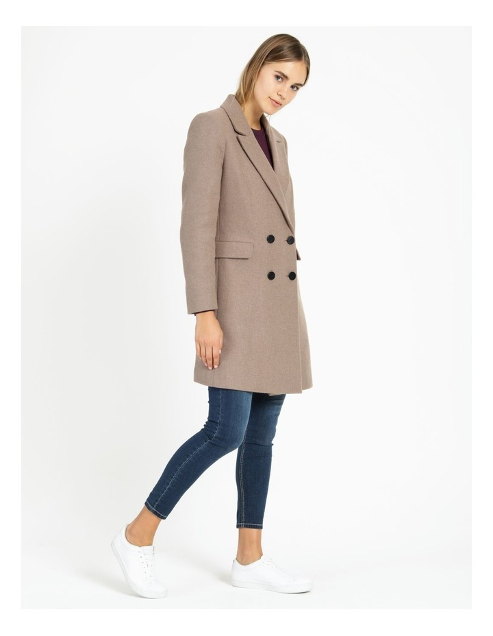 Double-Breasted  Wool Blend Coat image 3