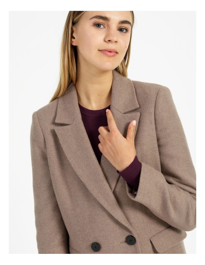 Double-Breasted  Wool Blend Coat image 6