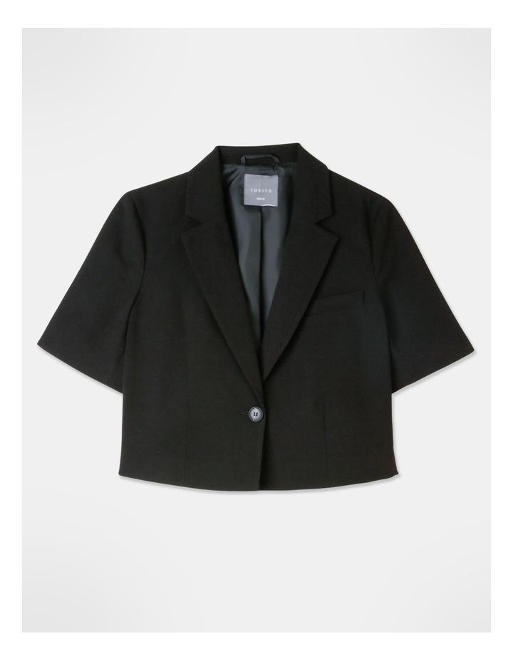 Cropped Blazer Black image 1