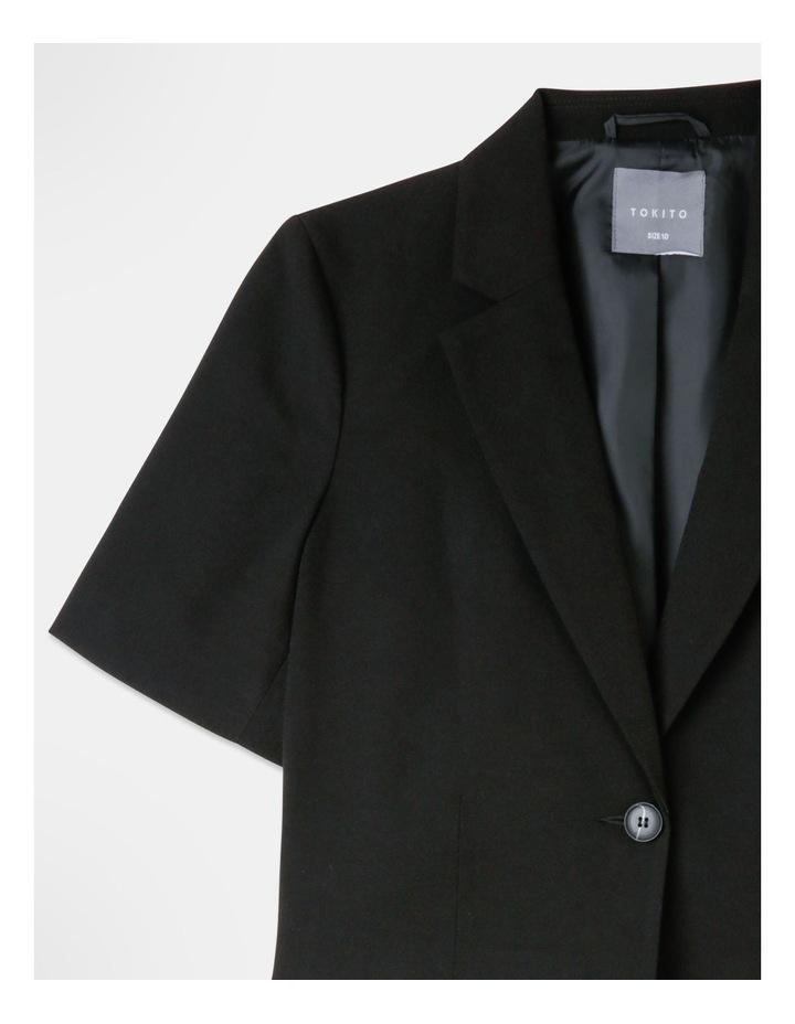 Cropped Blazer Black image 2