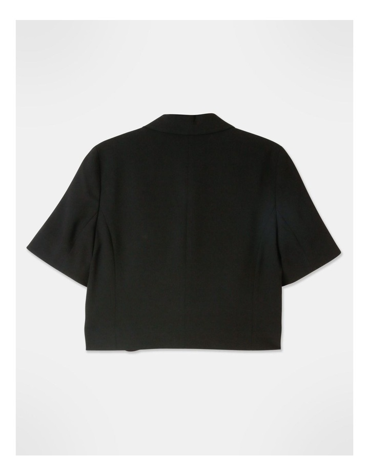 Cropped Blazer Black image 3