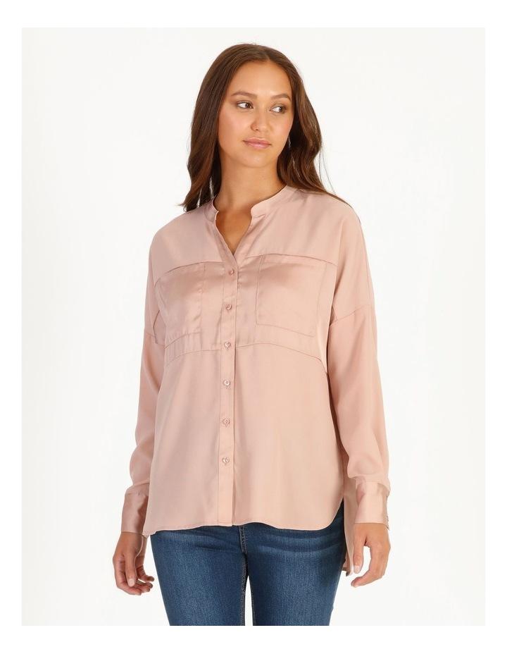 Relaxed 2 Pocket Satin Shirt image 1