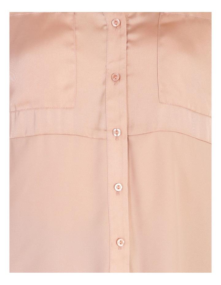 Relaxed 2 Pocket Satin Shirt image 4