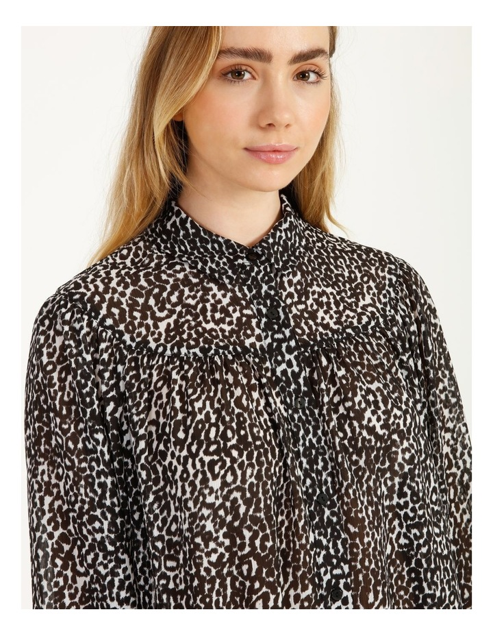 Oversized Long Sleeve Shirt Snow Leopard image 6