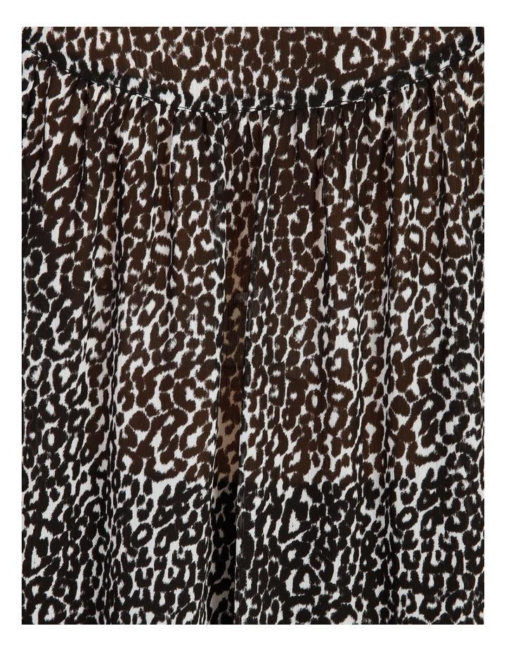 Oversized Long Sleeve Shirt Snow Leopard image 7