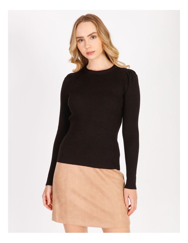 Puff Sleeve Knit Top image 1