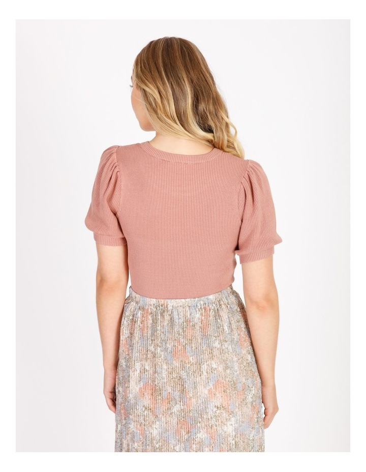 Short Sleeve Puff Knit Top image 3