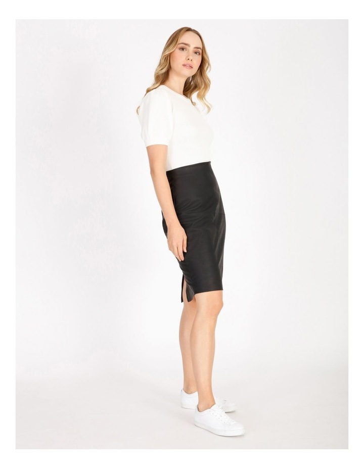 Short Sleeve Puff Knit Top image 2