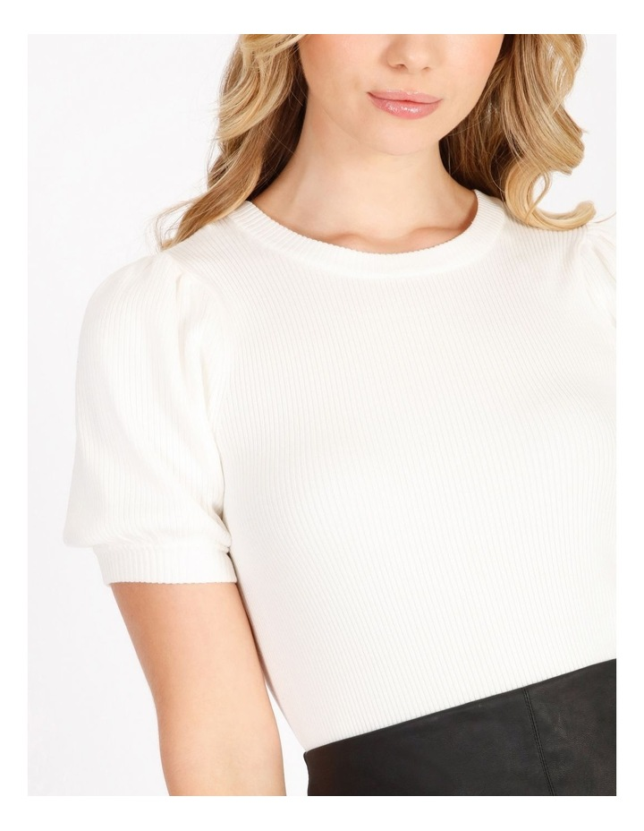 Short Sleeve Puff Knit Top image 4